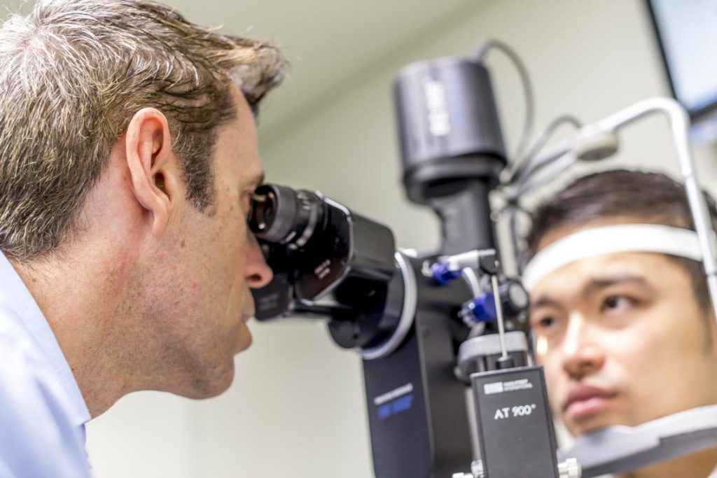 Astigmatism can be detected by an optometrist who can then prescribe corrective action.